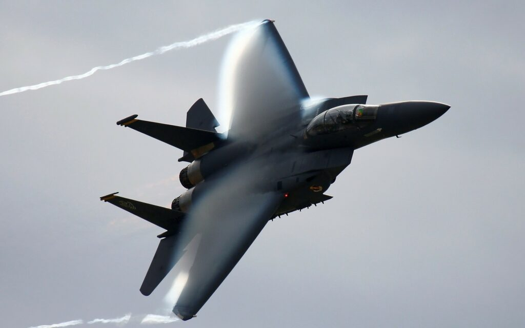 F-15 Eagle breaking the sound barrier