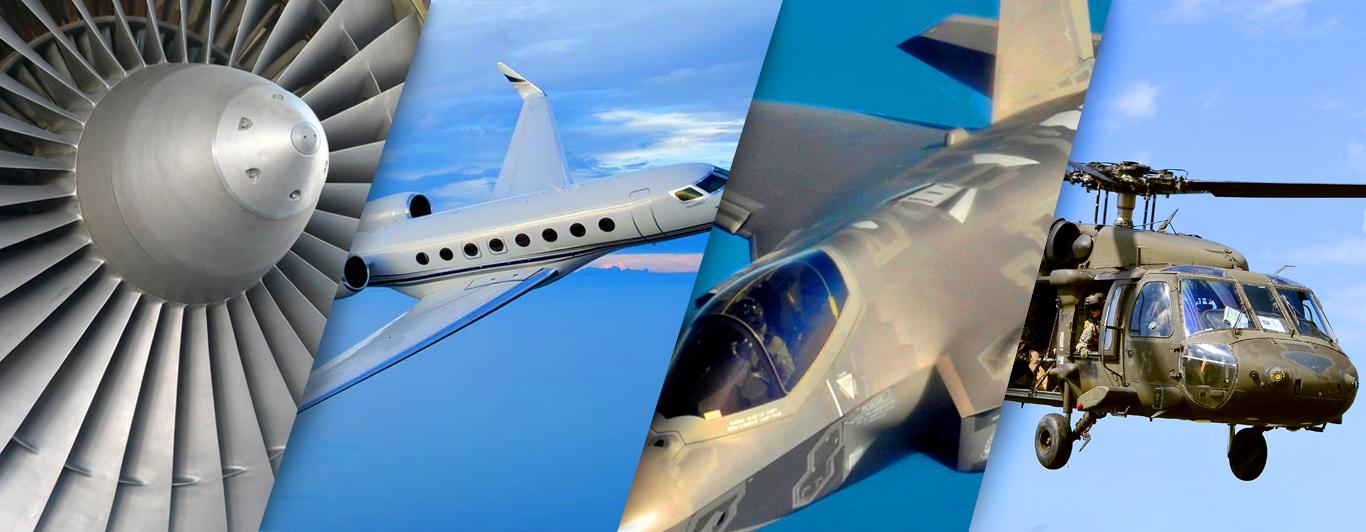 Radius Aerospace Homepage Collage